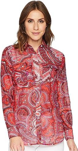 Paisley Silk-Blend Shirt