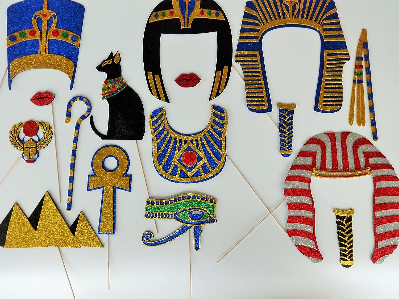 Egyptian King Tut Photo Booth Props Scarab Pyramids Pharaoh-Crook -Mayal