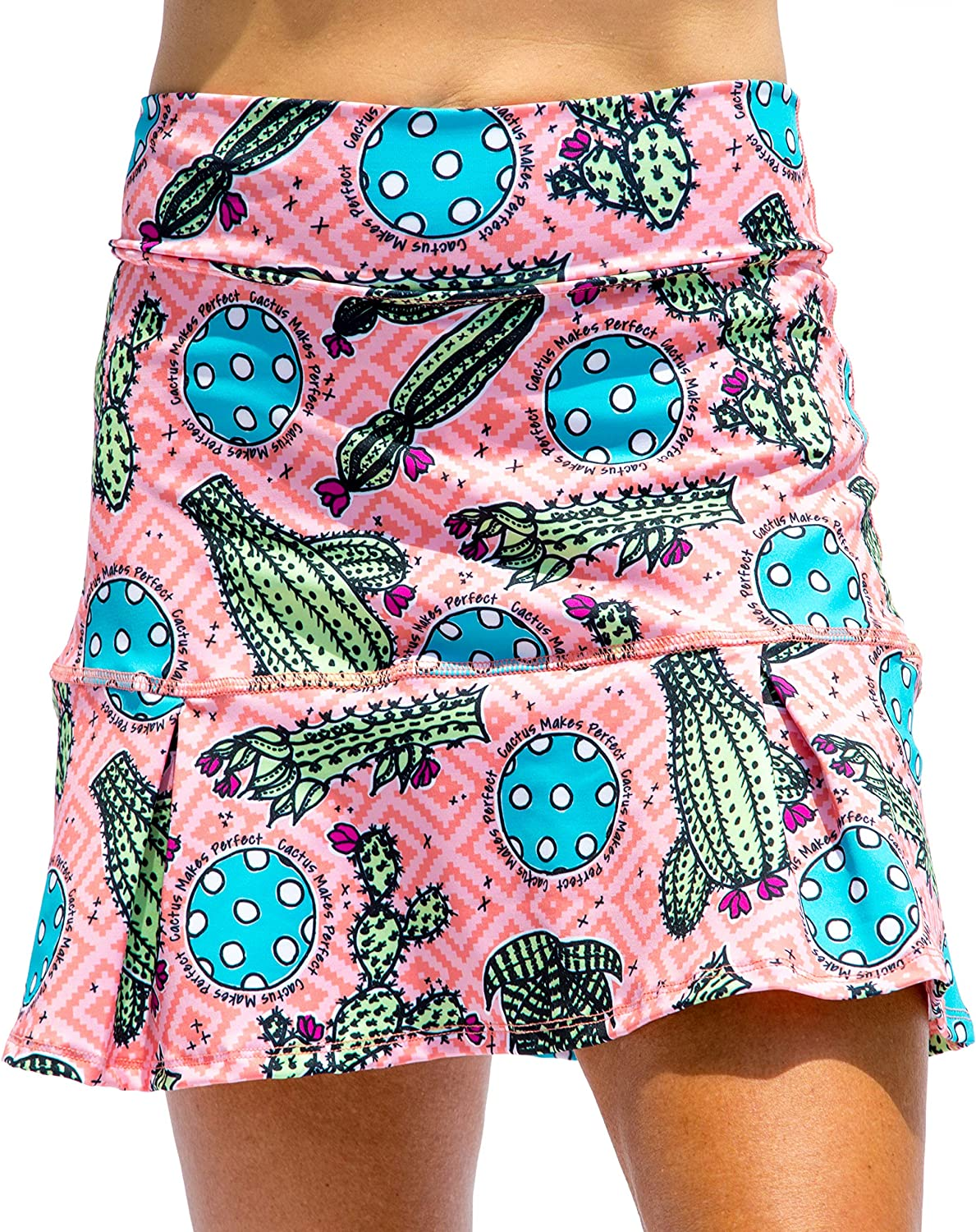 San Antonio Mall Pickleball Bella Cactus 1 We OFFer at cheap prices Drop Pleat and in Green Pink B Skort