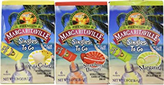 Margaritaville Singles To Go Drink Mix Ultimate Summer Variety Party Bundle Margarita,..