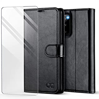 OCASE Compatible with Samsung Galaxy S20 FE 5G Case with Card Holders, PU Leather Flip Wallet Case [TPU Inner Case][Stand][Tempered Glass Screen Protector] Protective Phone Cover 6.5 Inch (Black)