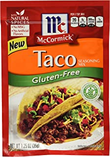 McCormick Gluten Free Taco Seasoning Mix 1.25 oz (Pack of 6)