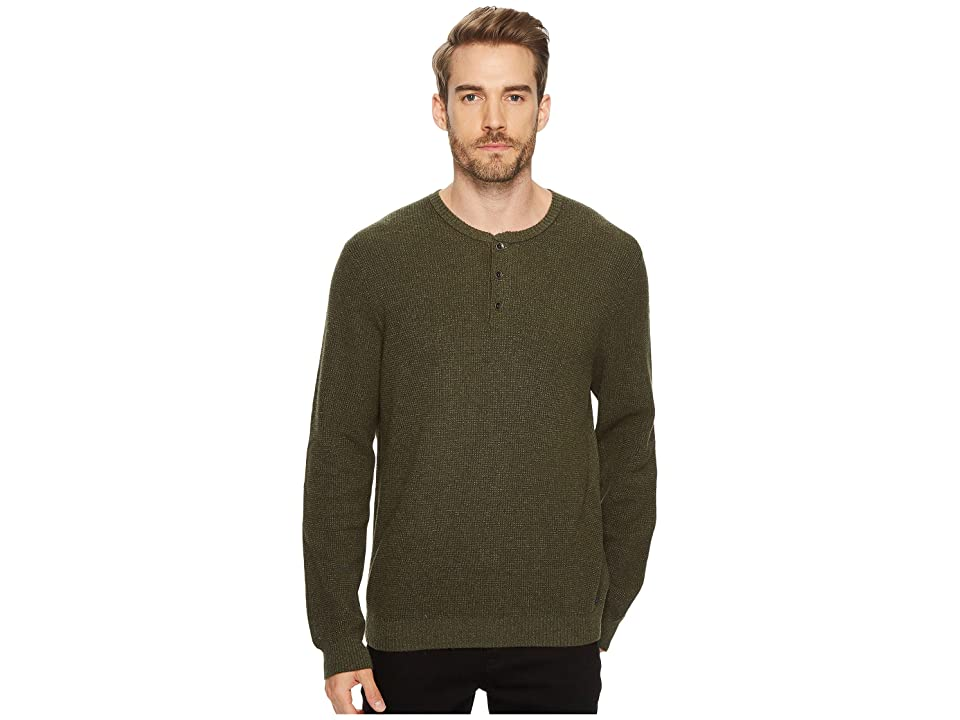 Lucky Brand Stitch Henley Sweater (Olive Multi) Men