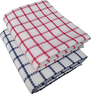 VELHUB Cotton Bath Towels Pink/Blue Combo Set of 2pcs, Size 75cm x 150cm