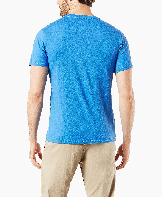 dockers Long Sleeve Crewneck Sweater Pull-Over Homme Bandiera Nebbia Blu.