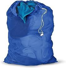 (Blue, Mesh) - Honey-Can-Do LBG-01161 Mesh Laundry Bag with Drawstring, 60cm L x 90cm H, Blue