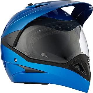 Studds Motocross Helmet with Visor (Flame Blue, XL)