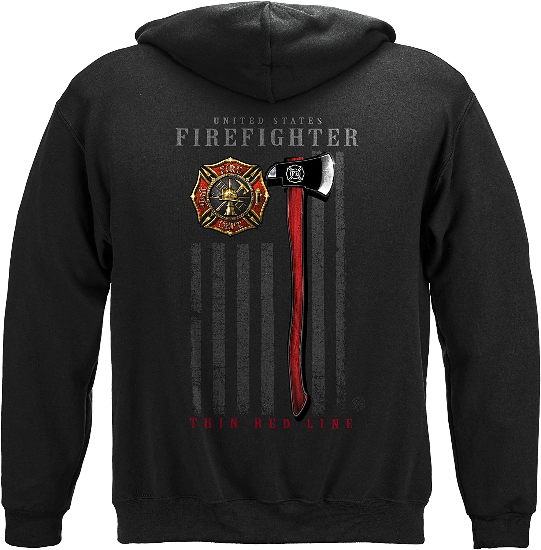 Erazor Bits Firefighter 新作続 Patriotic T-Shirt 送料無料 Axe F Flag