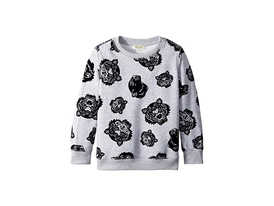 Kenzo Kids All Over Printed Sweater (Little Kids) (Marl Grey) Boy