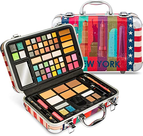 high quality Vokai Makeup Kit Gift Set - New York Travel Case 41 Eye Shadows 4 Blushes 5 Bronzers 7 Body Glitters 1 Lip Liner Pencil 1 Eye Liner Pencil outlet sale 2 Lip Gloss lowest Wands 1 Lipstick 5 Concealers 1 Brow Wax 1 Mirror online sale