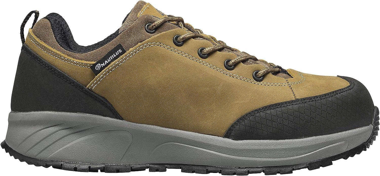 Nautilus Safety Footwear Men's Surge Oxford, Brown, 9 Wide