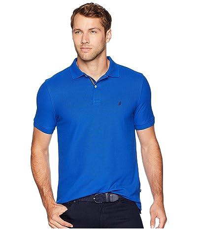 Nautica Short Sleeve Solid Deck Shirt (Bright Cobalt) Men