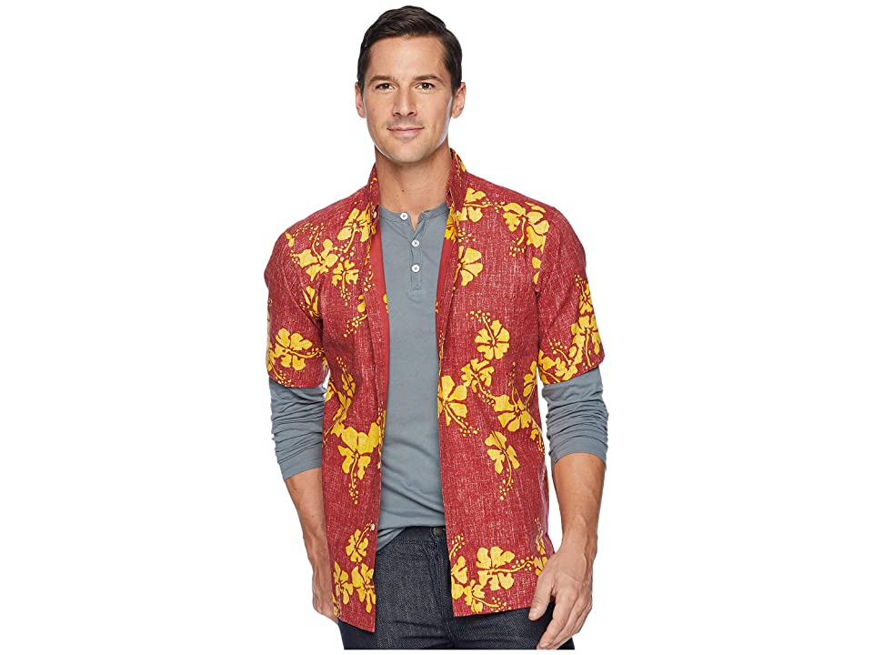 Reyn Spooner 50th State Flower Button Front Aloha Shirt (Crimson) Men
