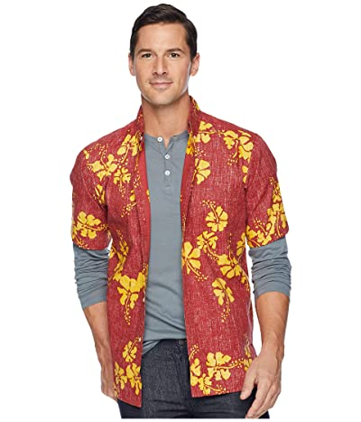 Reyn Spooner 50th State Flower Button Front Aloha Shirt (Crimson) Men