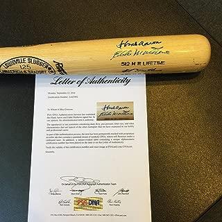 hank aaron signed baseball bat