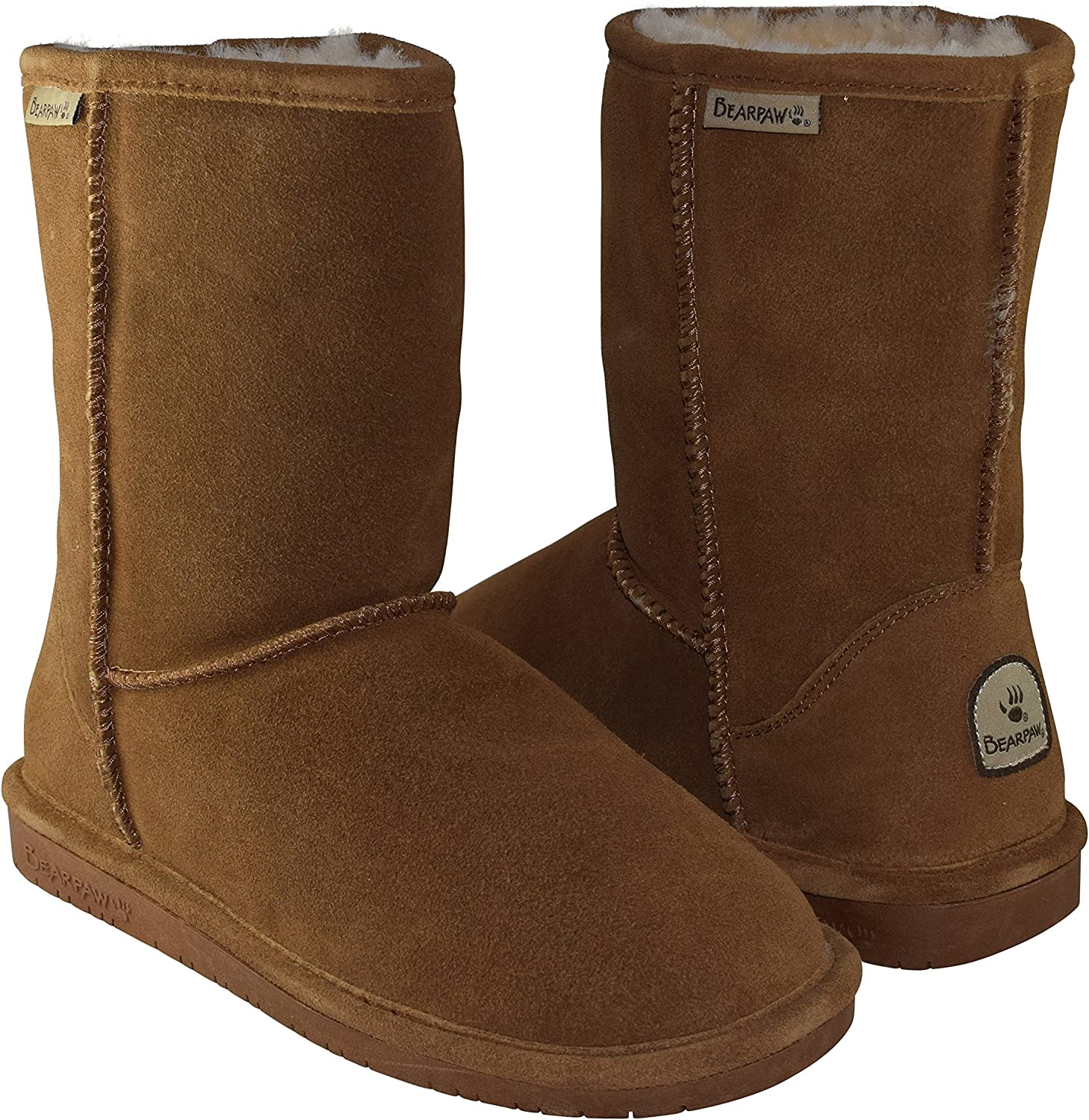 BEARPAW Max 61% OFF Limited time trial price Women's Emma Short Shearling 608-W Hickory Boots Chestn