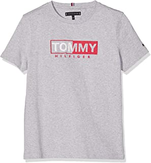 Tommy Hilfiger T-Shirt for Men, Grey Heather Color