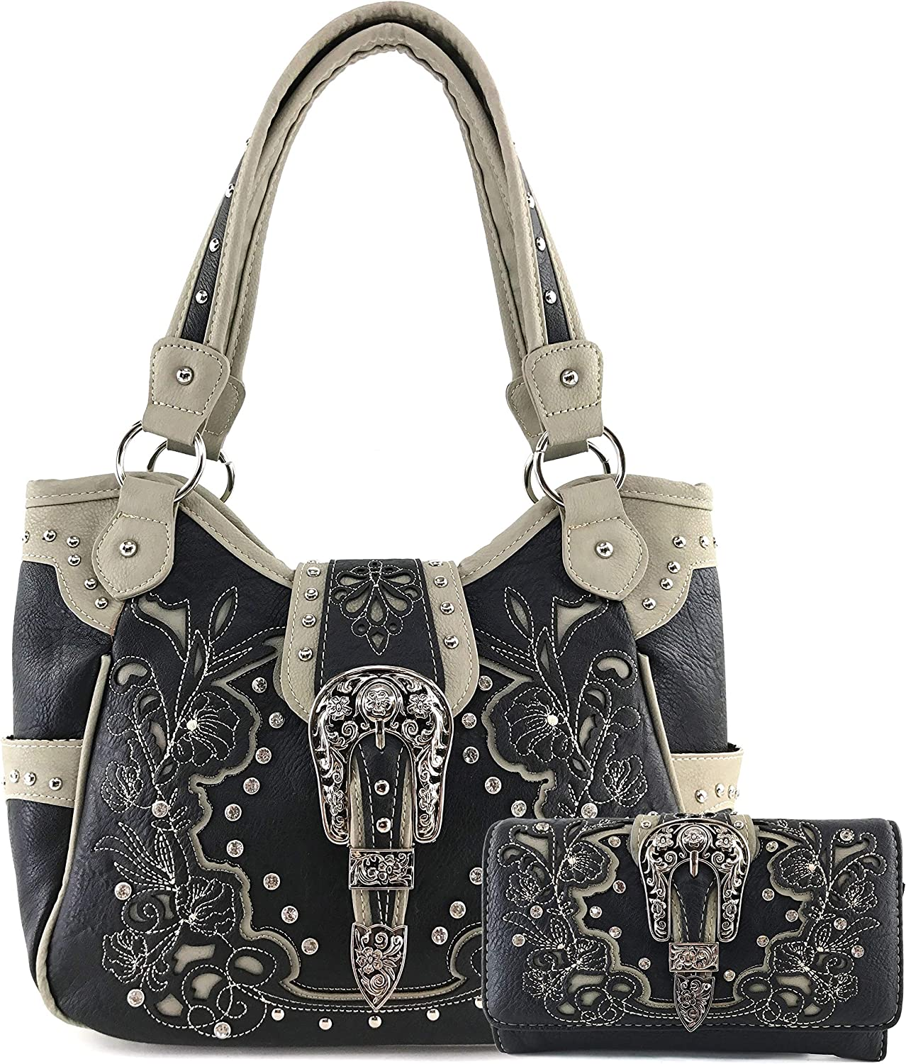 Zelris Western Floral Blossom Buckle Tote Ha 在庫一掃 Women Carry Conceal 40%OFFの激安セール