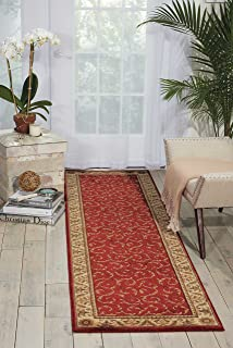 Nourison Somerset Red Runner Area Rug, 2-Feet 3-Inches by 8-Feet (2'3