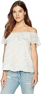 قميص نسائي Lucca Couture Melody Ruffle Overlay OTS Top