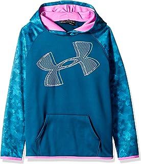 Under Armour Girls Armour Fleece Hoodie Printed Logo