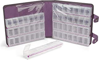 Craft Mates Lockables 56 Double Extra Large (2 XL) Compartment Ultrasuede Large Organizer Case (Purple)