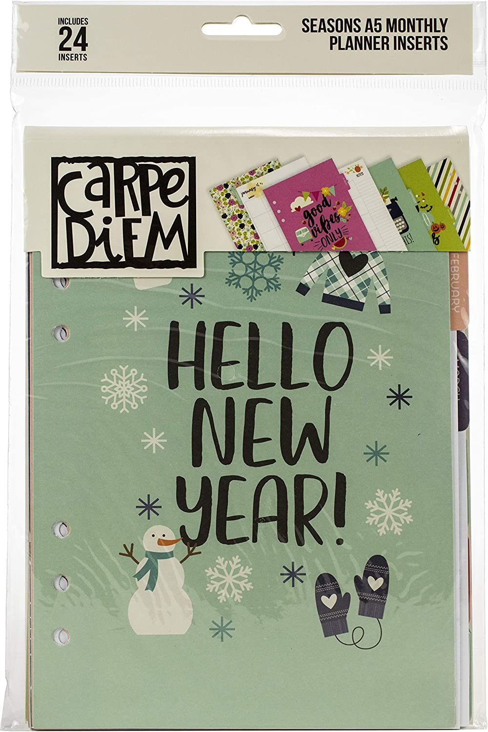 Simple Stories Carpe Diem Seasons Double-Sided Insert Cash special price Planner Many popular brands A5