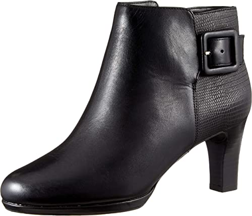 Rockport mujer Total Motion Leah Leather Heel Ankle botas