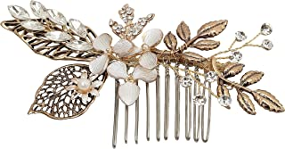Meiysh Vintage Wedding Hair Combs with Bead and Rhinestones - Wedding Hair Accessories Bridal Headpiece