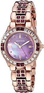 Armitron Women's Amethyst Colored Crystal Accented Goldtone Watch