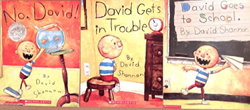 David Shannon Pack Set of 3 Books, No David, David Gets in Trouble, David Goes to School