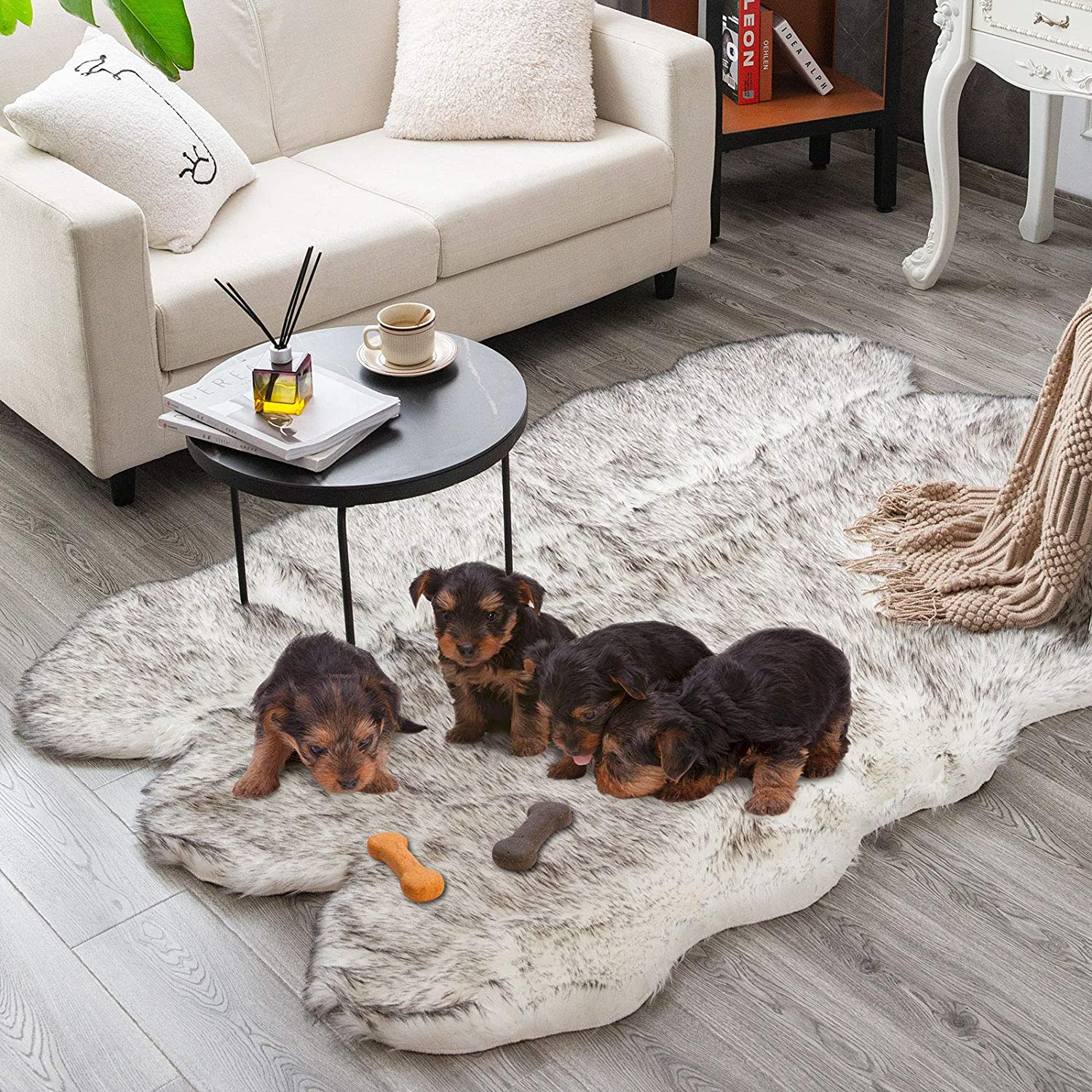 Carvapet Soft Fluffy Super Special SALE held Rugs Faux Fur San Antonio Mall Rug Area Sheepskin Bedroo for