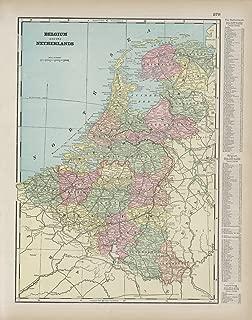 Map Poster - Belgium. Netherlands. - 24