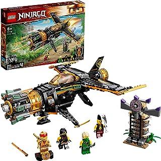 LEGO 71736 NINJAGO Legacy Boulder Blaster Aeroplane Toy with Prison and Collectible Gold Ninja Kai Figure