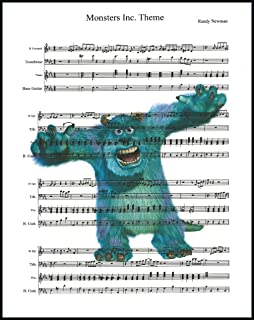 Ready Prints Monsters Inc. Theme Song Music Sheet from Monsters Inc. Movie Artwork Print Picture Poster Home Office Bedroom Nursery Kitchen Wall Decor - unframed