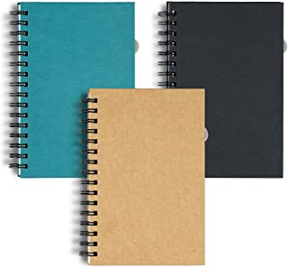 $20 » Hanote Spiral Notebook college ruled 5.5 x 8.5, 3-Subject, 120 Sheets / 240 Pages, Assorted Color (SET OF 3) Premium Lined Notebooks, Large Size Spiral Notebooks College Ruled For Men or Women.