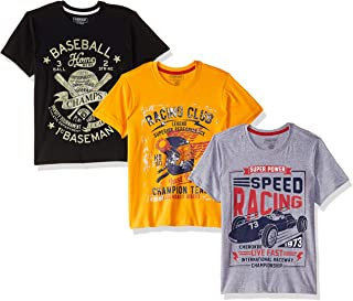 e98a66ae3 Cherokee by Unlimited Boys' Plain Regular Fit T-Shirt (Pack of ...