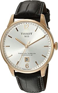 Tissot Men's T0994073603700 Chemin Des Tourelles Powermatic 82 Analog Display Swiss Automatic Brown Watch