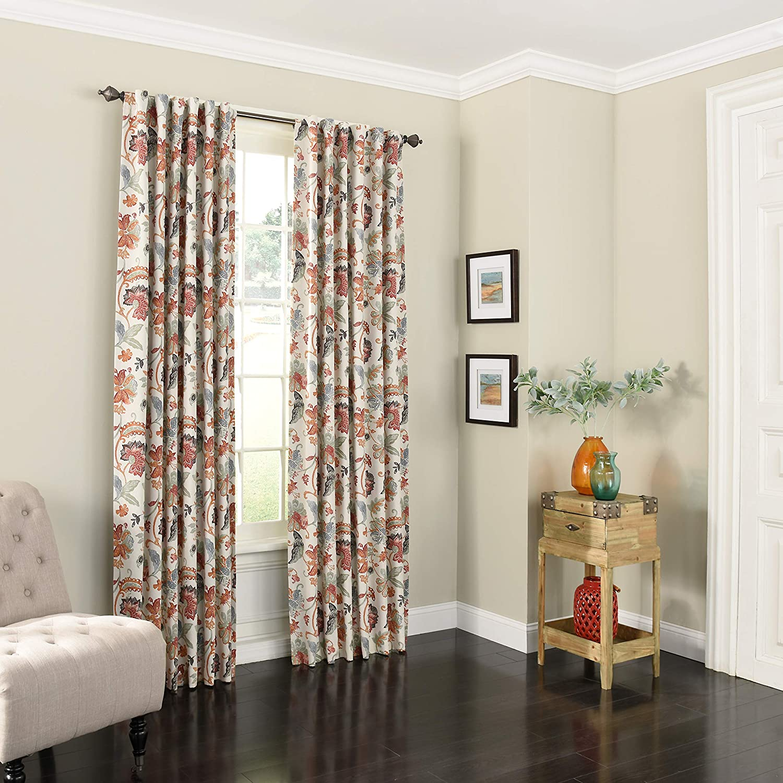 Eclipse Nina Rod Pocket Curtains for Bedroom Multicolor 52 x 84 Single Panel