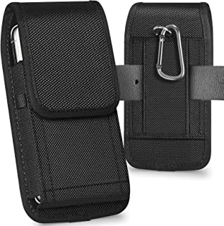 Best ykooe Cell Phone Pouch Nylon Holster Case with Belt Clip Cover Compatible with iPhone 12/Pro/Mini, 11, Pro, Max, SE2 7 8+ X, Samsung Galaxy S20 FE S10+ S9 A51 A01 Google Pixel 5/4A Moto/LG Review