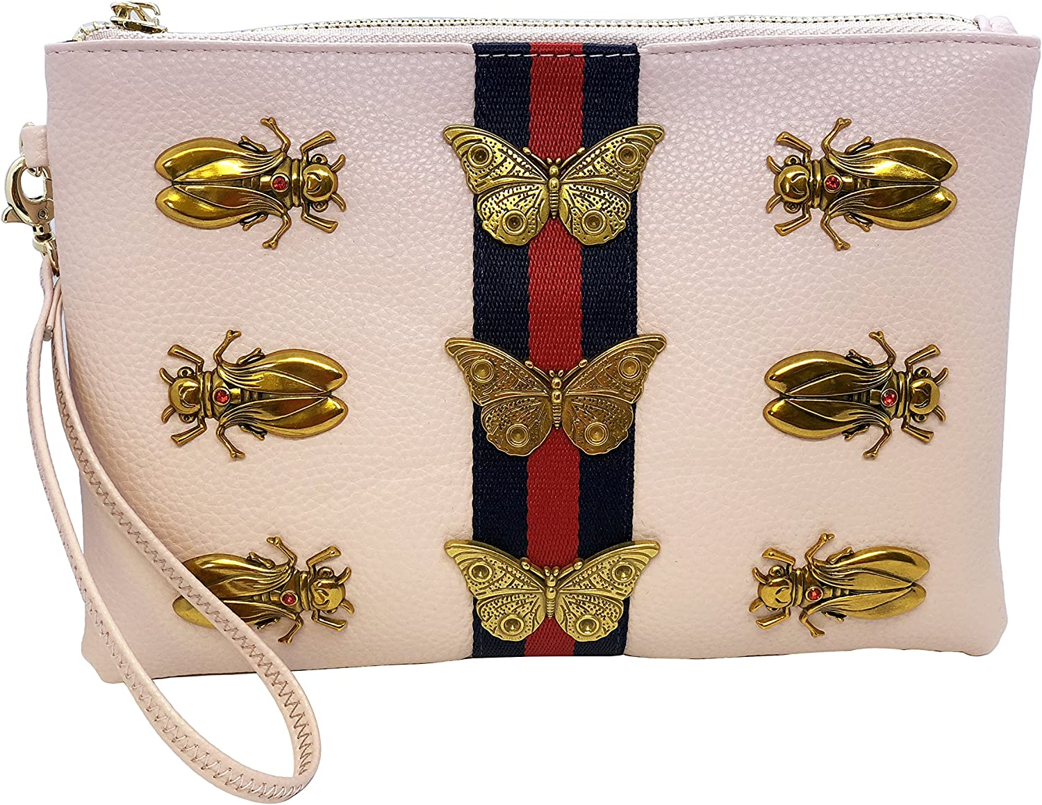 Inzi Inspired Bees Butterflies belt bag Pink
