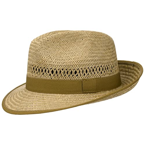 97547c9fc19583 Classic Straw Fedora Hat (Natural Colour) for Women and Men | Lightweight Straw  Hat