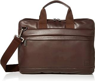 Knomo Barbican Foster, Leather Laptop Business Briefcase, Slim Design with RFID Pocket, Black