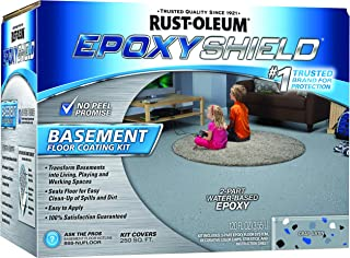 Rust-Oleum 203007 Epoxy Shield Basement Floor Kit, 1 Pack, Gray