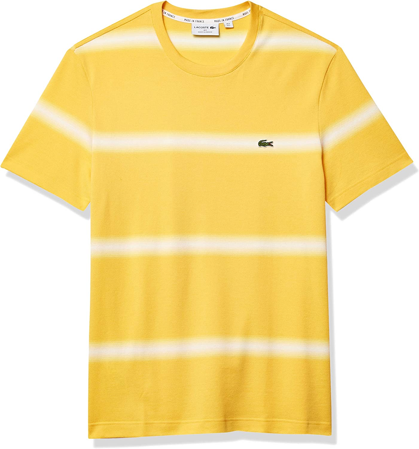 Lacoste Men's Short Sleeve Ombre Striped Fit Recommendation T-Shirt Colorado Springs Mall Regular