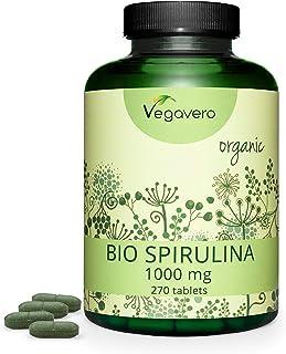 Spirulina Orgánica Vegavero® | La Dosis Más Alta: 1000 mg