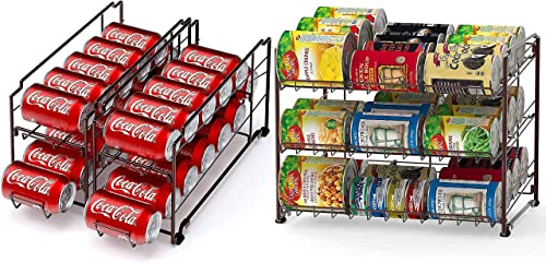 popular Simple lowest discount Houseware Stackable Can Rack + Soda Can Dispenser online