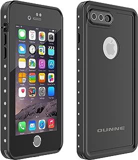 OUNNE iPhone 7 Plus/8 Plus Waterproof Case, Underwater Full Sealed Cover Snowproof Shockproof Dirtproof IP68 Certified Waterproof Case for iPhone 7 Plus/8 Plus 5.5inch (Black)