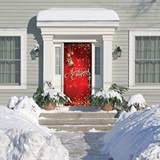 Victory Corps Outdoor Christmas Holiday Front Door Banner Cover Mural Décoration - Christmas Front Door Banner Decor - Ornaments Merry Christmas