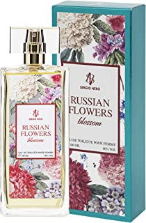 RUSSIAN FLOWERS Agua de tocador (Eau de toilette) para Mujeres 100 ml – FRAGANCIA Nueva de flores para Ella (BLOSSOM)